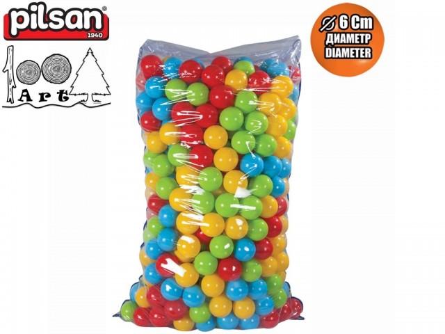 PILSAN 06402 - Топки за игра 500 бр., Диаметър: 6 cm