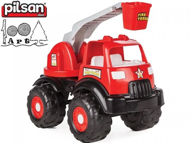 "PILSAN 06519 - Голям детски камион пожарна ""POWER"", Размери: 26x44x30 см, Тегло: 1.79 кг"