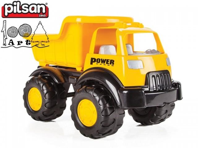 "PILSAN 06522 - Голям детски пластмасов камион ""Power"", Размери: 26x49x31 см, Тегло: 1.67 кг"
