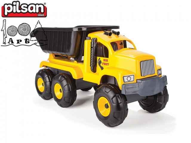 "PILSAN 06601 - Голям детски пластмасов камион ""Big Foot"", Размери: 37x91x44 см, Тегло: 4.10 кг"