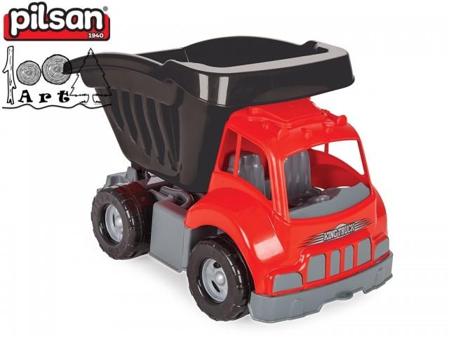 "PILSAN 06604 - Голям детски пластмасов камион ""KING"", Размери: 35x61x39,5 см, Тегло: 2.25 кг"