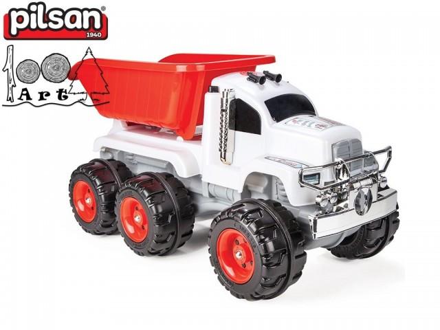 "PILSAN 06609 - Детски пластмасов музикален камион ""Crazy"", Размери: 46x92.5x43 см,Тегло: 5 кг"