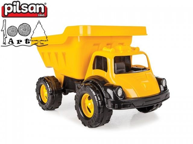 """PILSAN 06615 - Голям детски пластмасов камион """"TRUVA"""" в кутия,"""