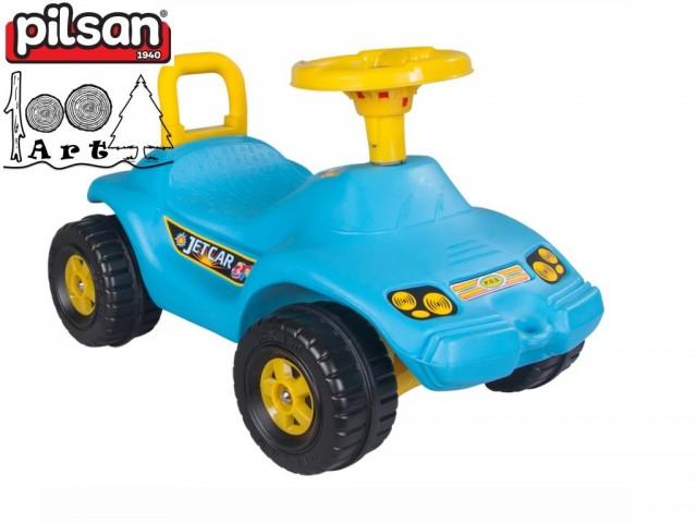 """PILSAN 06806 - Детска кола за бутане/яздене """"OTO JET"""", Цвят: Син, Размери: 39x65x38 см, Тегло: 3.0 кг"""