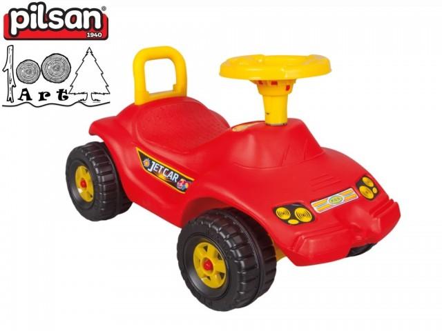 """PILSAN 06806 - Детска кола за бутане/яздене """"OTO JET"""", Цвят: Червен, Размери: 39x65x38 см, Тегло: 3.0 кг"""