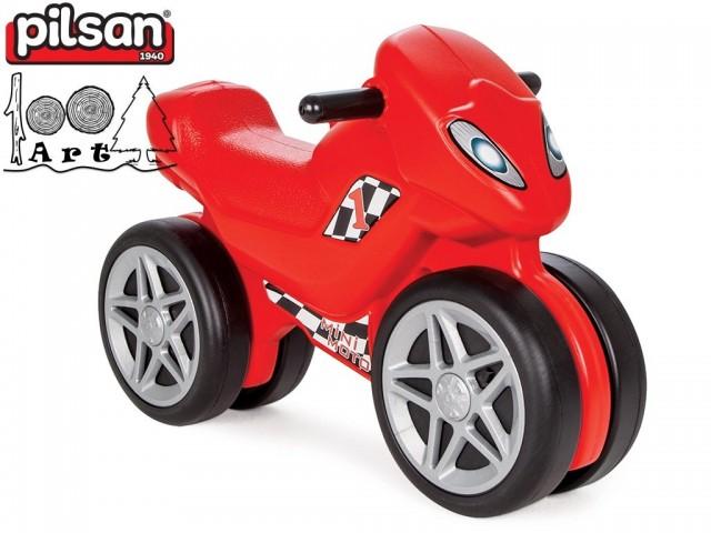 """PILSAN 06809 - Детско балансиращо моторче """"Mини Mото"""", Размери: 41.5x66x35.5 см, Максимално натоварване: 50 кг"""