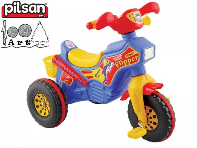"PILSAN 07111 - Детска триколка мотор на педали ""Flipper"", Размери: 63x80x44 см, Тегло: 5 кг"