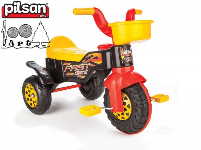 "PILSAN 07117 - Детска пластмасова триколка ""FAST"", Размери: 51x75x40 см, Тегло: 2.98 кг"