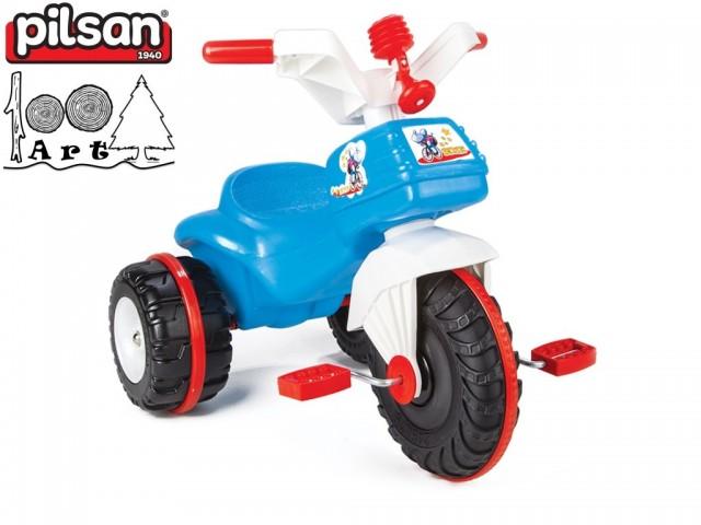 """PILSAN 07119 - Детска триколка-мотор """"BIDIC"""", Цвят: Син, Размери: 52x64x47 см, Тегло: 3.5 кг"""