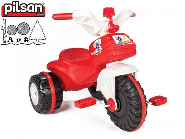 """PILSAN 07119 - Детска триколка-мотор """"BIDIC"""", Цвят: Червен, Размери: 52x64x47 см, Тегло: 3.5 кг"""