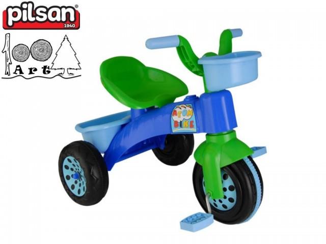 "PILSAN 07129 - Детска триколка-мотор ""ATOM"", Цвят: Син, Размери: 49x64x46.5 см, Тегло: 3.0 кг"