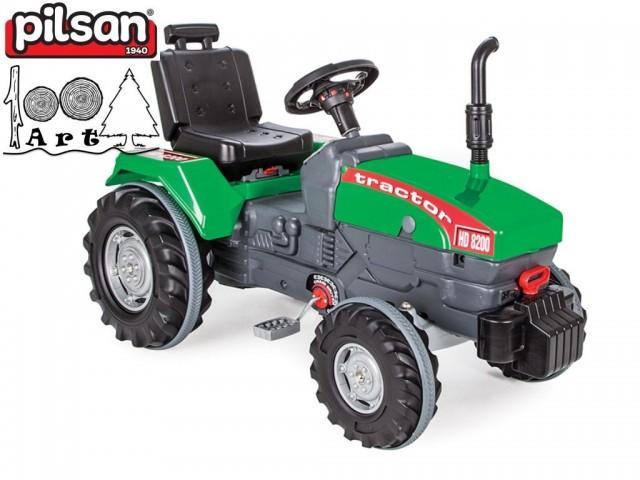 PILSAN 07294 - Детски пластмасов трактор с педали, Размери: 66x102x54 см, Тегло: 12 кг