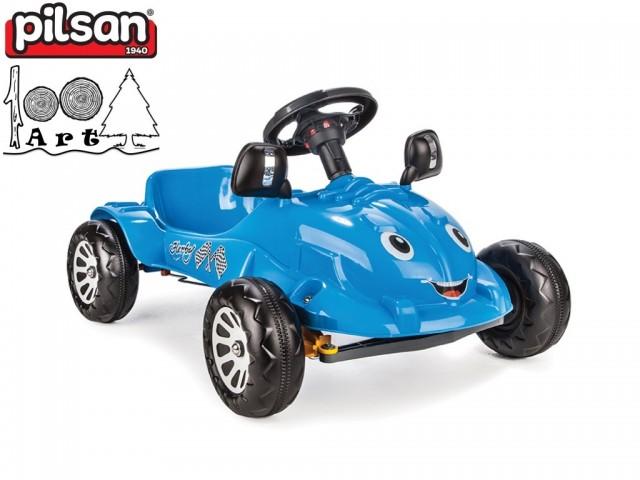 "PILSAN 07302 - Детска пластмасова кола с педали ""HERBY"", Цвят: Синя, Размери: 43.5x80x55 см, Тегло: 4 кг"