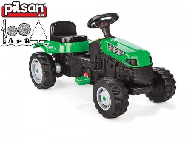 "PILSAN 07314 - Трактор с педали ""ACTIVE"", Цвят: Зелен, Размери: 51x95x51 см,Тегло: 12 кг"