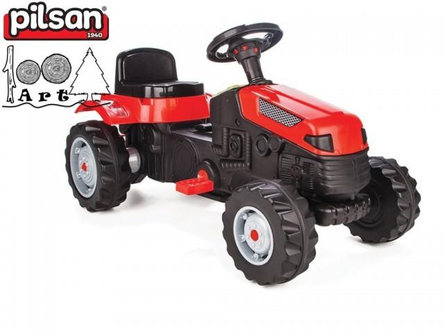 "PILSAN 07314 - Трактор с педали ""ACTIVE"", Цвят: Червен, Размери: 51x95x51 см, Тегло: 12 кг"
