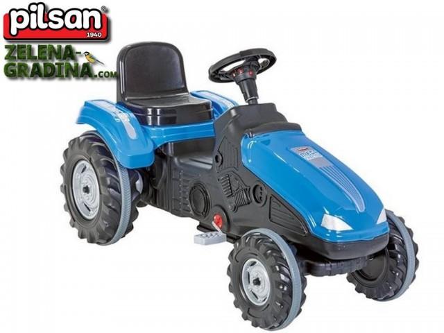 """PILSAN 07321 син - Трактор """"MEGA"""", Цвят: Червен, Размери: 114x50x64 см, Товароносимост: 60 кг"""