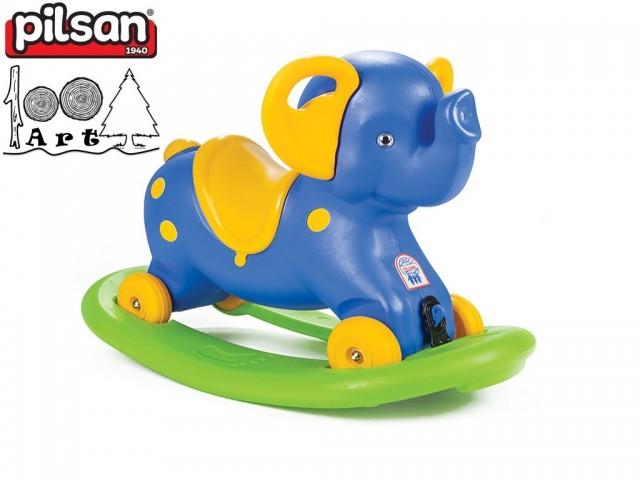 """PILSAN 07523 - Детска люлка """"Слонче"""", Цвят: Син, Размери: 55x78x40 см, Тегло: 3.10 кг"""