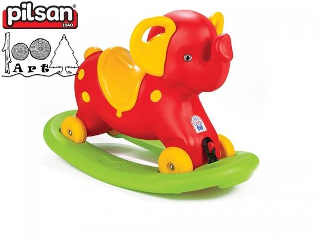 """PILSAN 07523 - Детска люлка """"Слонче"""", Цвят: Червен, Размери: 55x78x40 см, Тегло: 3.10 кг"""