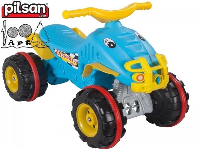 "PILSAN 07809 - Детска кола за бутане ""ATV"", Цвят: Син, Размери: 44.5x67x41 см, Тегло: 3 кг"