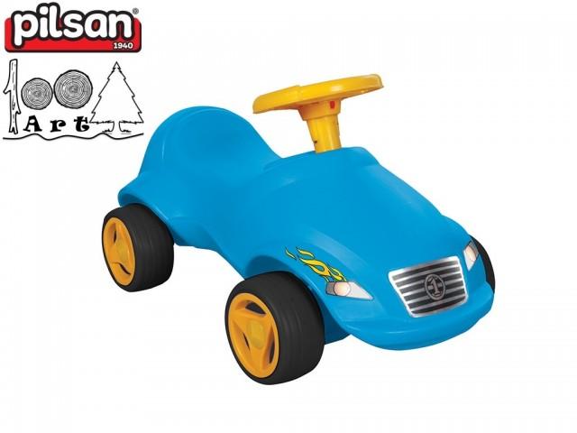 """PILSAN 07820 - Детска кола за бутане """"Fast"""", Цвят: Син, Размери: 39x71x36.5 см, Тегло: 2.53 кг"""