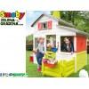 "SMOBY 7600310209 - Пластмасова детска къща за двора ""Friends House"", Голяма, Размери: 217 x 171 x 172 cm"
