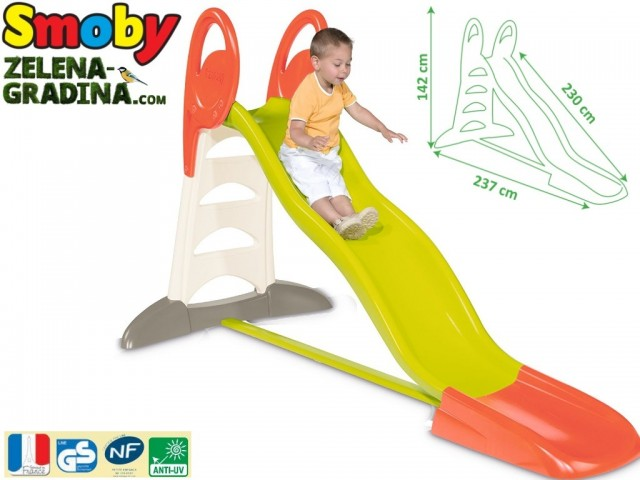 "SMOBY 7600310261 - Детска пързалка водна ""Smoby XL"", Размери: 142x237x230 cm, Тегло : 14 кг"