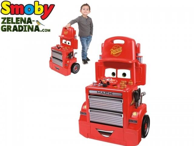 "SMOBY 7600360208 - Сервиз на колела ""MACK"" от филма CARS, Размери : 44 х 65 х 25 см."