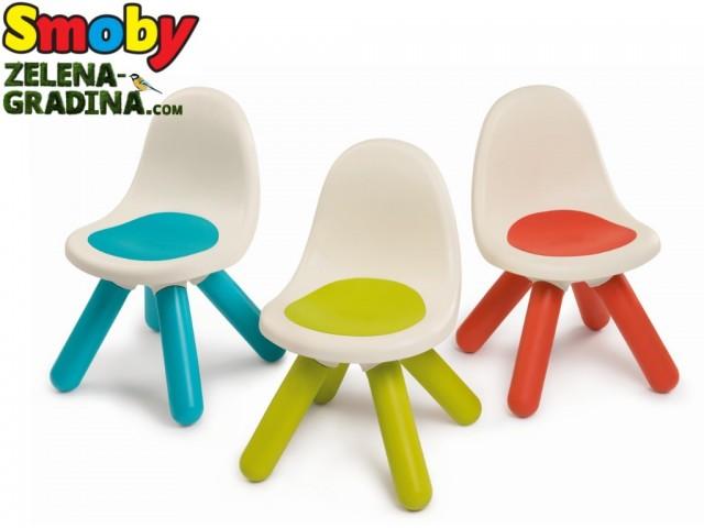 SMOBY 7600880100 - Детско столче с дебели крака, Различни цветове, Размери: 50 x 33 x 33 cm, Максимално тегло: до 50 кг